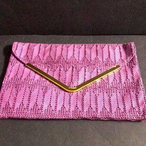 ASOS Envelope Oversized Clutch Purple Violet